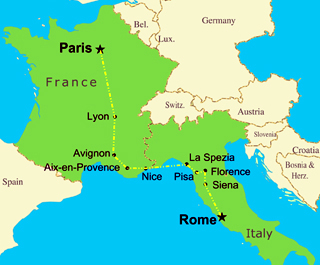 Backpacking Europe Trip Idea France And Italy Combo Baguette Pizza - Is france in italy