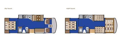 29-32ft RB motorhome layout